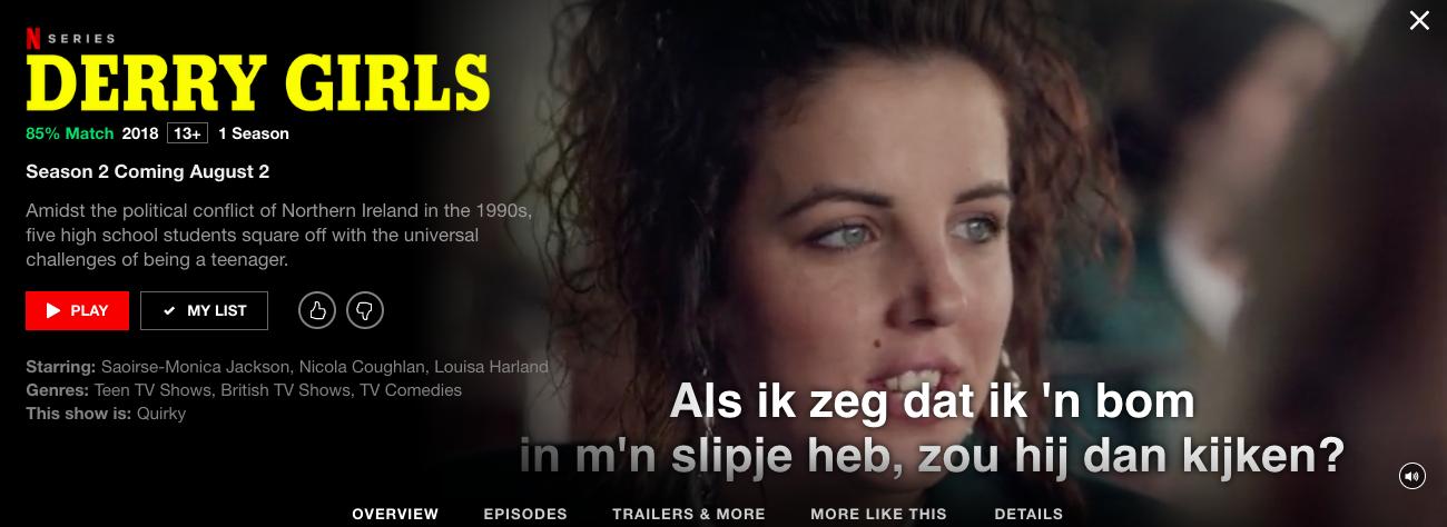 Netflix screenshot Jens Derry Girls