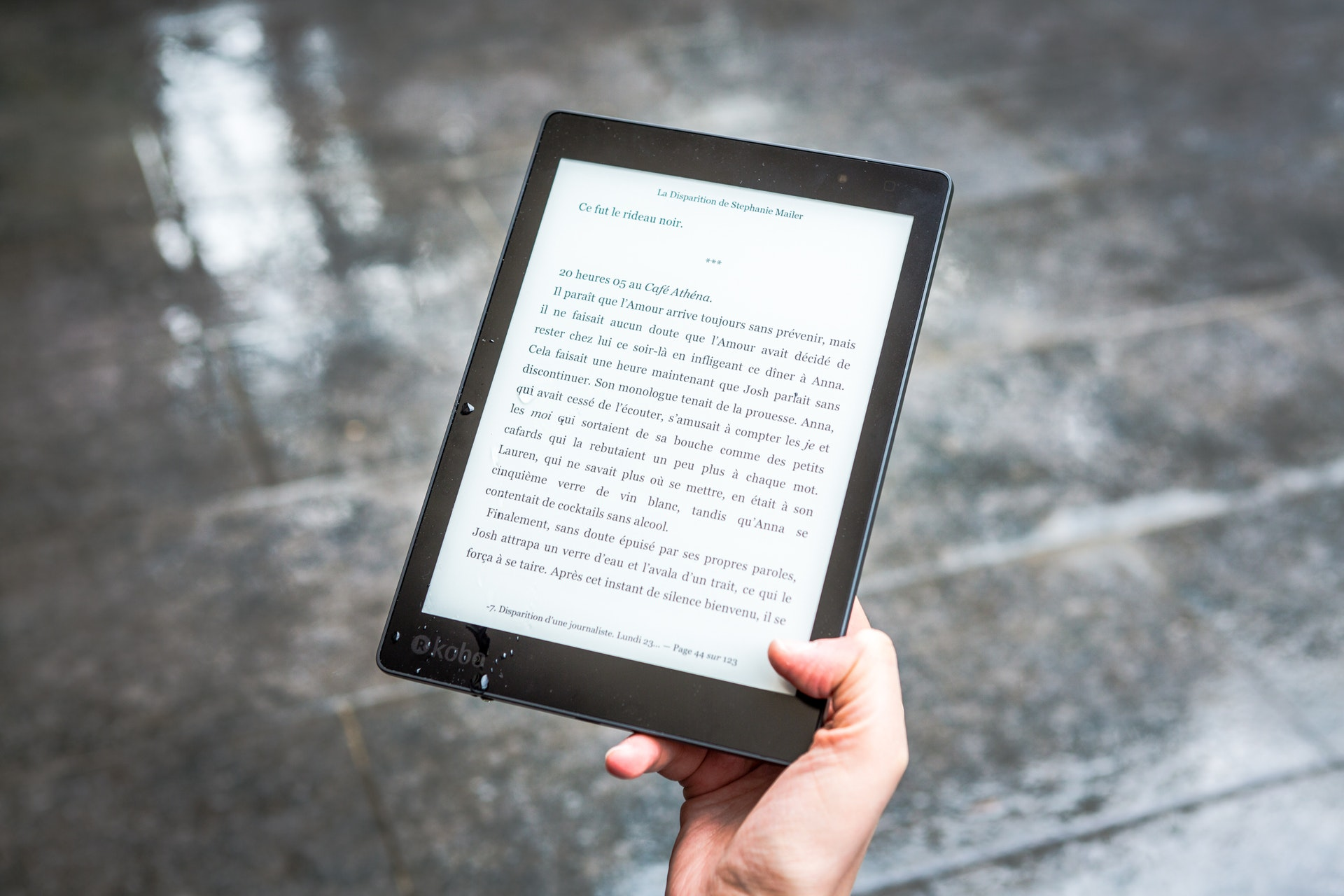 e-book op e-reader